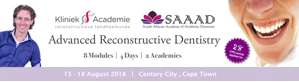 Advanced reconstructive dentistry Course Sjoerd 2018 Banner 585x161